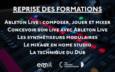 Les formations musique reprennent à l'E.M.I.L