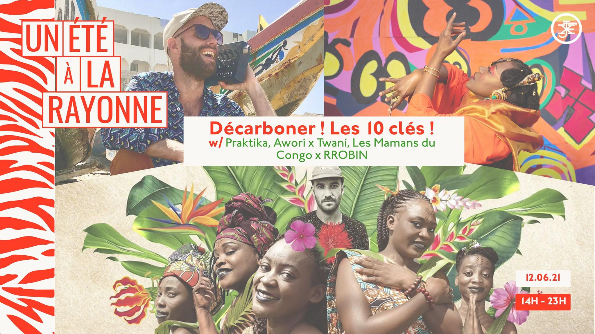 Décarboner l'événementiel, Praktika, Awori, Twani, Les Mamans du Congo, RROBIN