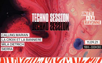 Techno Session le 11 septembre à La Rayonne (Villeurbanne)